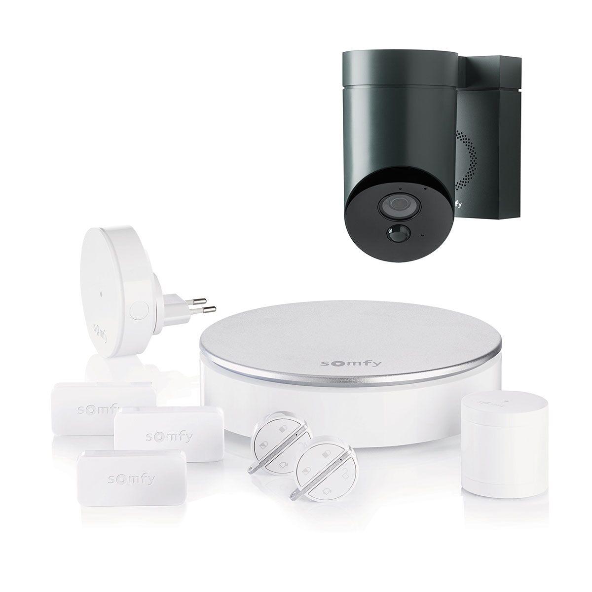 Image of Somfy Home Alarm + Outdoor Camera antracitgrå